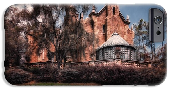 Haunted House iPhone Cases - A Haunting House iPhone Case by Joshua Minso