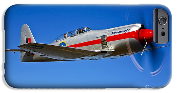 Fury iPhone Cases - A Hawker Sea Fury T.mk.20 Dreadnought iPhone Case by Scott Germain