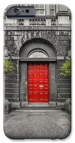 Entrance Door Photographs iPhone Cases - A Heart Needs A Home iPhone Case by Evelina Kremsdorf