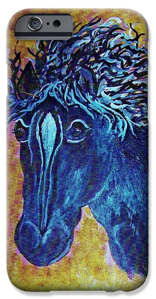 A Horse Named Whimsy iPhone Case by Eloise Schneider