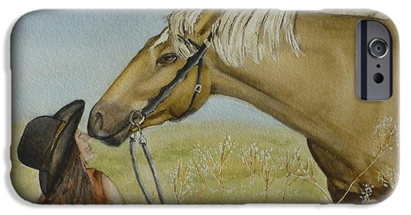 Bonding iPhone Cases - A Horses Gentle Touch iPhone Case by Kelly Mills