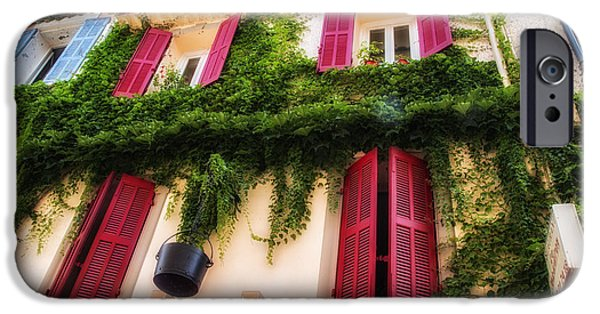 French Open iPhone Cases - A House in the South of France iPhone Case by Nomad Art And  Design