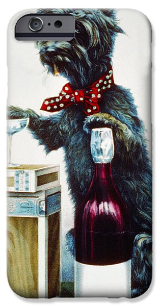 Puppy Digital iPhone Cases - A Jolly Dog iPhone Case by Currier and Ives