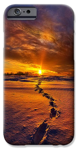 Crops iPhone Cases - A Journey To The Shining Star iPhone Case by Phil Koch