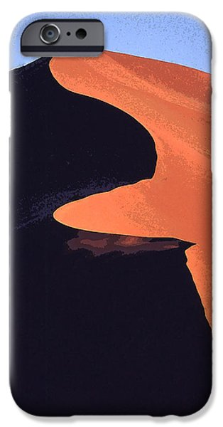 Sand Dunes Mixed Media iPhone Cases - A Knife-edged Dune iPhone Case by Anthony Dalton