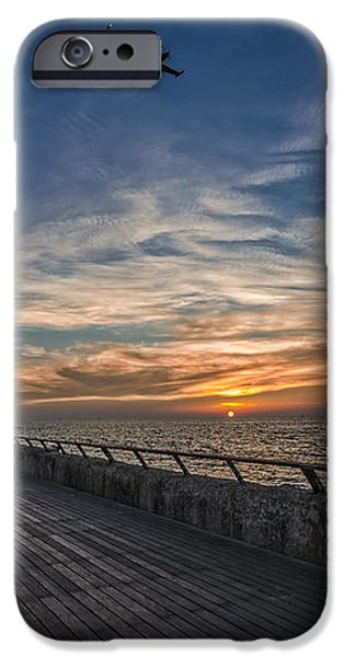 a kodak moment at the Tel Aviv port iPhone Case by Ron Shoshani