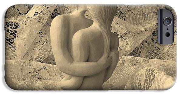 Love Sculptures iPhone Cases - A Lace Kiss iPhone Case by Barbara St Jean
