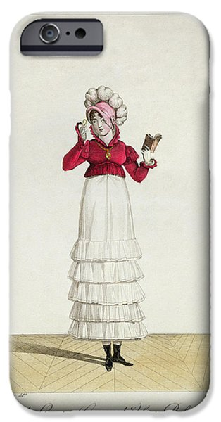 Person Drawings iPhone Cases - A Lady in a Levantine hat iPhone Case by Antoine Charles Horace Vernet