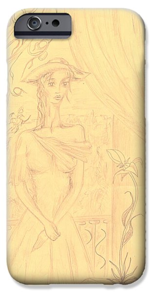 Baroness iPhone Cases - A Lady iPhone Case by Levon Saryan