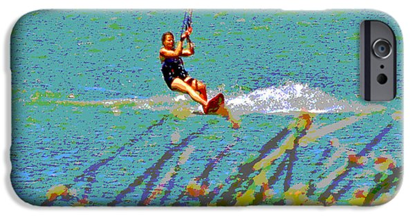 Kite Boarding iPhone Cases - A Lady on the Delta iPhone Case by Joseph Coulombe