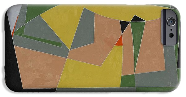 Abstracts iPhone Cases - A Landscape By The Sea, 2007 Oil On Board iPhone Case by George Dannatt