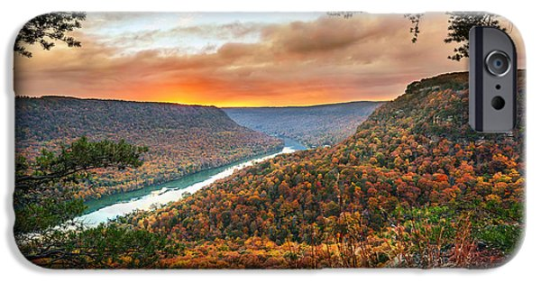 Tennessee River iPhone Cases - A Late Autumn View iPhone Case by Steven Llorca