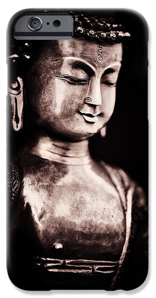 Buddhism iPhone Cases - A Light in the Dark iPhone Case by Tim Gainey