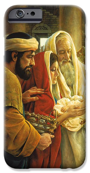 Baby Jesus iPhone Cases - A Light to the Gentiles iPhone Case by Greg Olsen