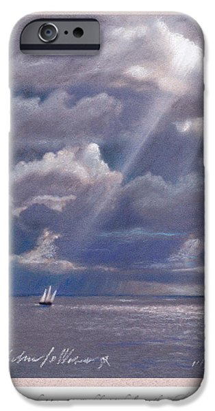 Sailboats Pastels iPhone Cases - A Light Unto My Path iPhone Case by Michael  Weber