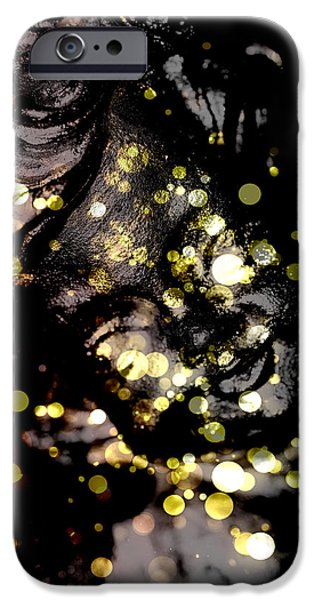 Innocence Mixed Media iPhone Cases - A little angel statue  iPhone Case by Toppart Sweden