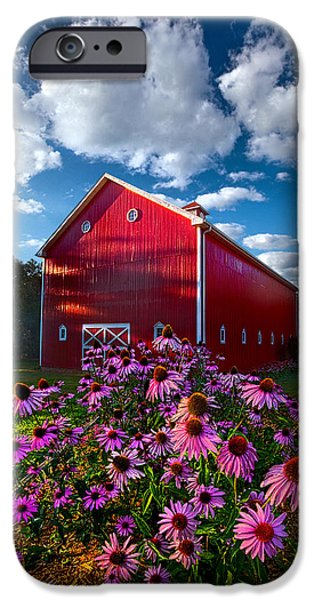 Meadow Photographs iPhone Cases - A Little More Country iPhone Case by Phil Koch