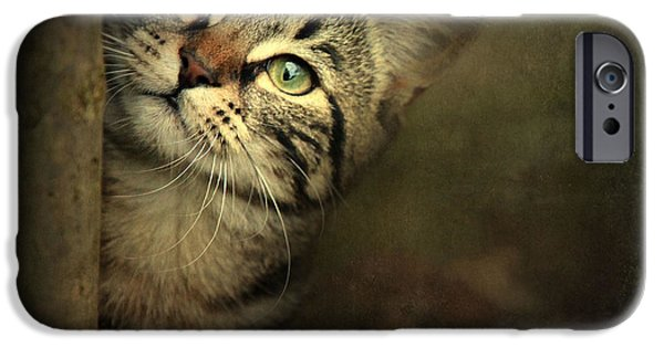 Purebred Digital Art iPhone Cases - A Little Shy iPhone Case by Annie  Snel