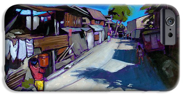 Alley iPhone Cases - A Little Street in Cebu iPhone Case by Douglas Simonson