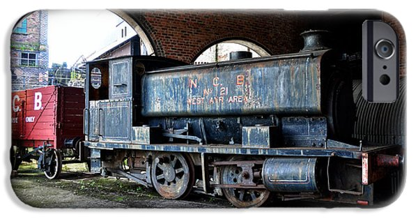 Engine iPhone Cases - A locomotive at the colliery iPhone Case by RicardMN Photography