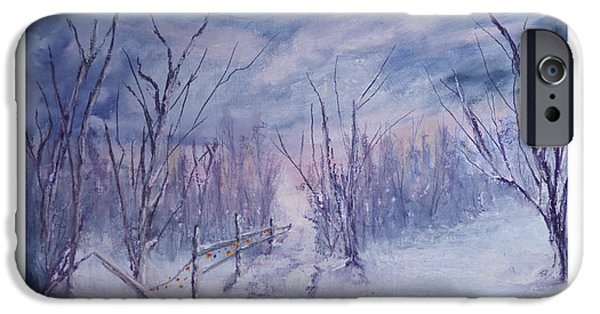 Pathway Pastels iPhone Cases - A Lone Walk by Brian Curnel iPhone Case by Brian Curnel