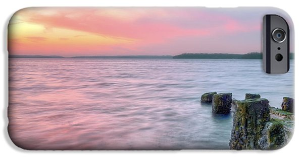 Hobart iPhone Cases - A Long Island Sunset iPhone Case by JC Findley