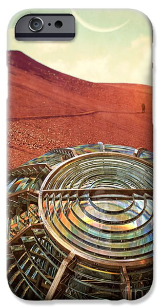 Mars iPhone Cases - A long walk home iPhone Case by Edward Fielding