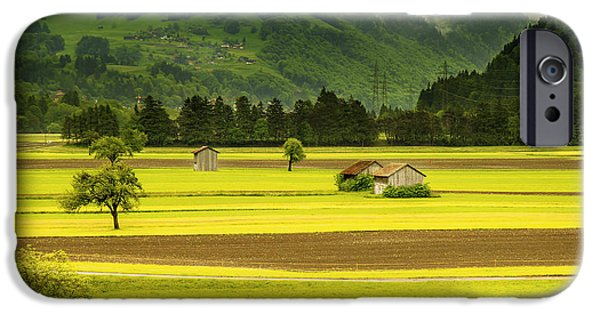 Swiss Landscape iPhone Cases - A Lovely Rural Swiss Valley iPhone Case by Mountain Dreams