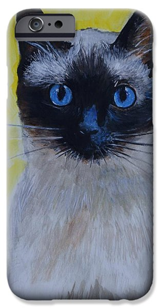 A Loving Siamese iPhone Case by Leslie Allen