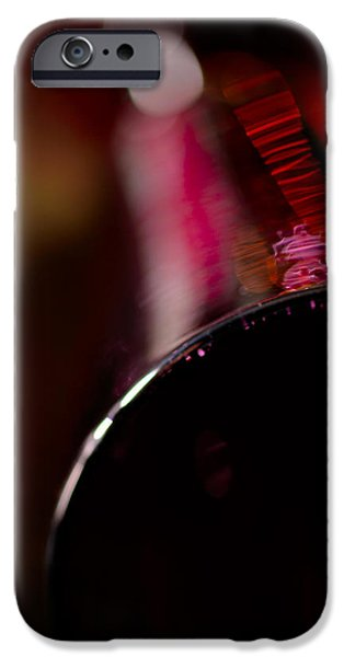 A lying wine glass iPhone Case by Toppart Sweden