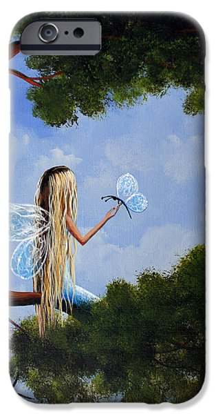 Surreal Landscape iPhone Cases - A Magical Daydream Original Artwork iPhone Case by Shawna Erback