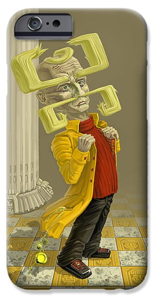 Weird iPhone Cases - A Man Of Style iPhone Case by Augustinas Raginskis