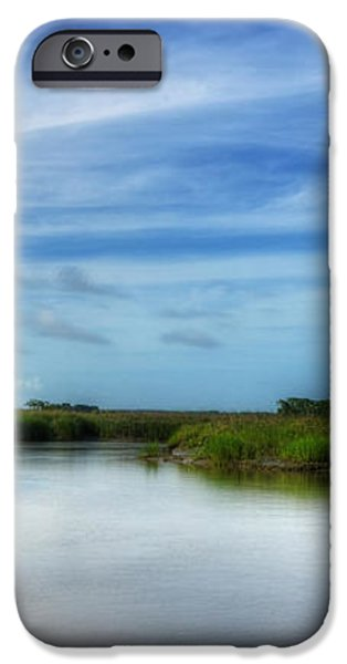 A Marsh at Jekyll Island iPhone Case by Greg and Chrystal Mimbs