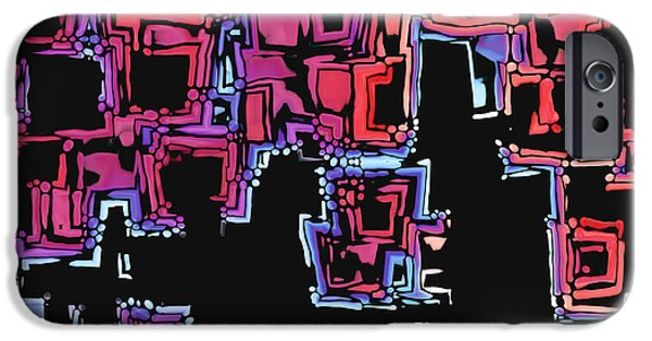 """digital Abstract"" iPhone Cases - A Maze Zing - 01c07a iPhone Case by Variance Collections"
