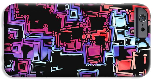 """digital Abstract"" iPhone Cases - A Maze Zing - 03c07 iPhone Case by Variance Collections"