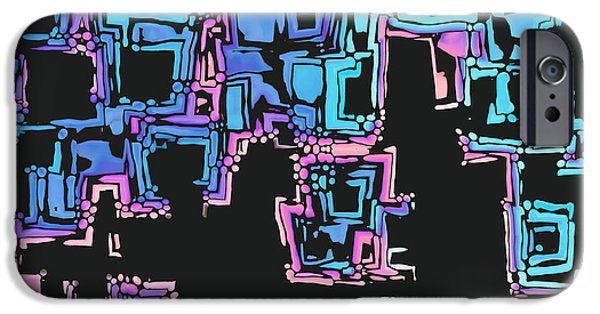 """digital Abstract"" iPhone Cases - A Maze Zing - 01c01 iPhone Case by Variance Collections"