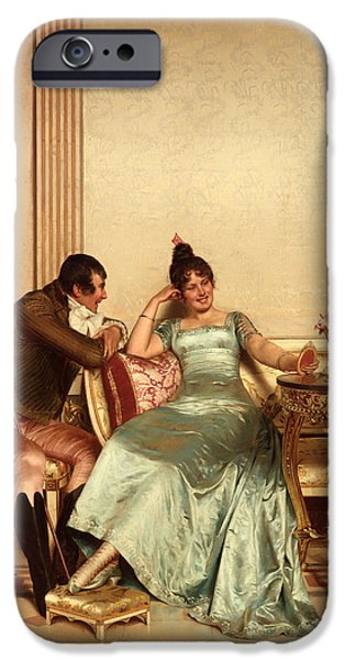 Ball Gown iPhone Cases - A Merry Jest iPhone Case by Frederic Soulacroix
