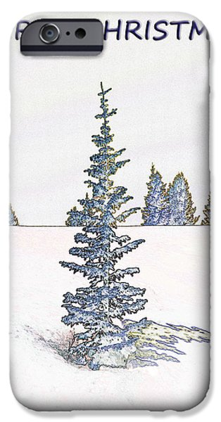 Winter Scene iPhone Cases - A Merry Little Christmas iPhone Case by Janice Rae Pariza