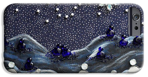 Constellation Paintings iPhone Cases - A Midnight Clear iPhone Case by Donna Blackhall
