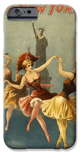 Dance iPhone Cases - A Midnight Frolic iPhone Case by Aged Pixel