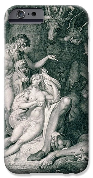 A Midsummer Nights Dream iPhone Case by Henry Fuseli