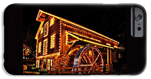 Grist Mill iPhone Cases - A Mill in Lights iPhone Case by DJ Florek
