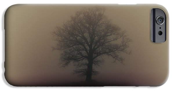 Wintertime Photographs iPhone Cases - A misty morning iPhone Case by Chris Fletcher