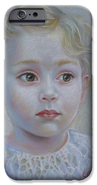 Little Girl iPhone Cases - A moment of reverie iPhone Case by Elena Oleniuc