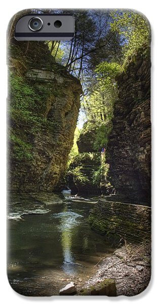 Watkins Glen iPhone Cases - A Moment of Stillness iPhone Case by Joshua House