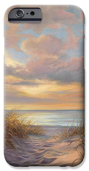 Recently Sold -  - Ocean Sunset iPhone Cases - A Moment Of Tranquility iPhone Case by Lucie Bilodeau