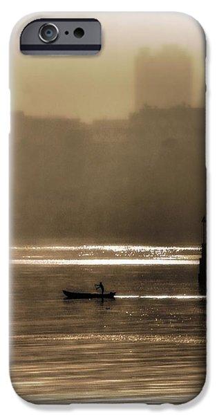 A Morning Paddle iPhone Case by Henry Kowalski