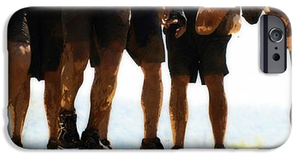 Male Athlete iPhone Cases - A mud mutation that drastically changes the phenotype of an organism or species iPhone Case by Steven  Digman