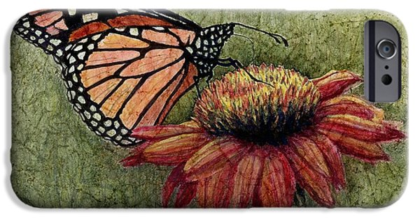 Janet King iPhone Cases - A New Creation from a butterfly in my garden iPhone Case by Janet King