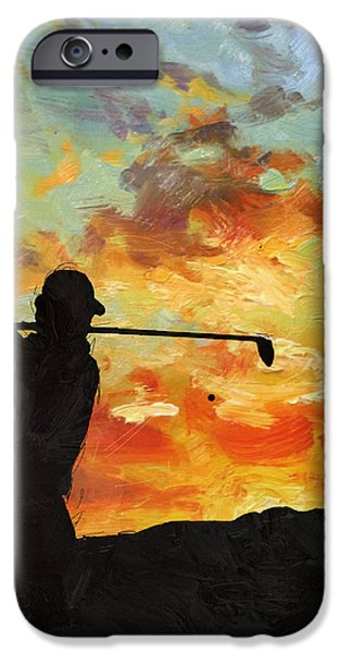 Tiger Woods iPhone Cases - A new dawn iPhone Case by Catf